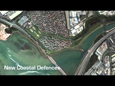 3D Animation of New Coastal Defences at Anchorage Park