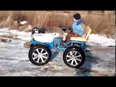видео: Мини трактор из мотоблока своими руками /2