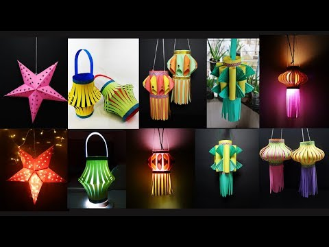 DIY 5 Awesome Paper Lantern Making Ideas | Diwali Decoration Ideas At Home | Christmas Decorations