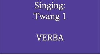 Singing: Twang exercise 1