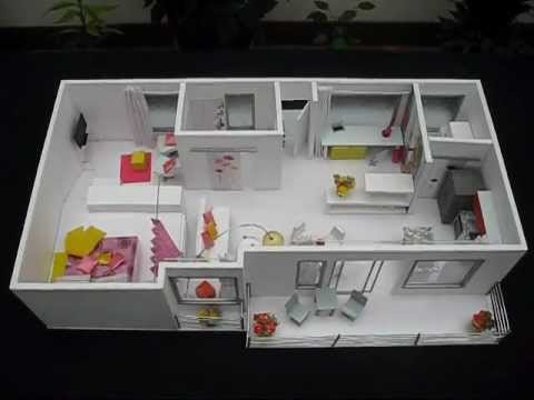 Costa rica maqueta apartamento de disenadora de interiores - Como hacer una maqueta de una casa ...