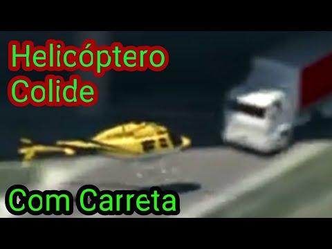 ACIDENTE DE HELICÓPTERO COM JORNALISTA DA BAND/ RICARDO BOECHAT/AERONAVE COLIDE COM CARRETA!