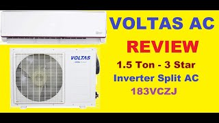 Voltas Air Conditioner 183VCZJ Review Voltas 1 5 Ton 3 Star Inverter Split AC