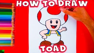 How To Draw Toad From Mario Bros and Mario  Kart - Easy Things to Draw