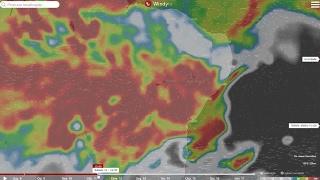 Chuva aumenta sobre o Nordeste