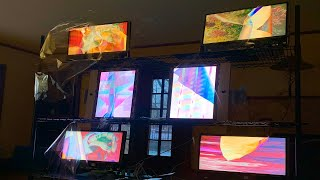 """I Turned a Bunch of """"Obsolete"""" Old iMacs Into a Giant Polarized Art Exhibit!"""