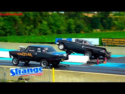 TIME MACHINE NATIONALS OLD SCHOOL RACING GASSERS CHICAGO PRO 85 RACING GREAT LAKES DRAGWAY