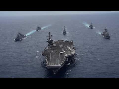 USS Carl Vinson SF Leads Japan Maritime SDF Destroyers