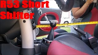 homepage tile video photo for R53 Mini Cooper S Madness Motorworks Short Shifter Install DIY
