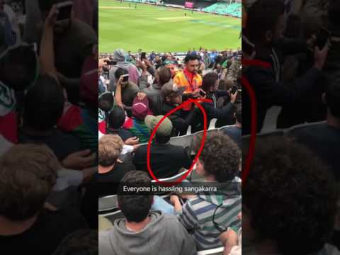 Kumar Sangakkara spotted in the crowd at The Oval Cricket Ground 2017