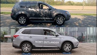 Mitsubishi Outlander II vs Outlander III - 4x4 test on rollers