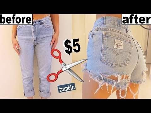 how-to-make-old-jeans-into-shorts!