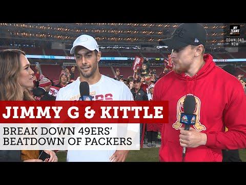 Jimmy Garoppolo, George Kittle Break Down 49ers' Beatdown Of Packers | NBC Sports Bay Area