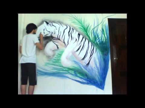 Libera Tu Arte - Adan Barahona-Tigre De Bengala Timelapse