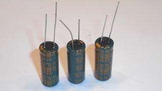 Электролитические конденсаторы SANYO на 2200мкФ 25В