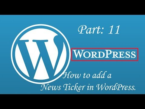How to add a News Ticker in WordPress | News Headline Ticker| News highlights