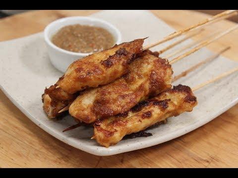 Chicken Satay With Peanut Sauce   Sanjeev Kapoor Khazana
