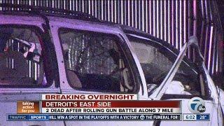 Two dead after gun battle along 7 Mile on Detroit