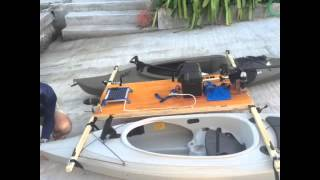 how to build a kayak catamaran