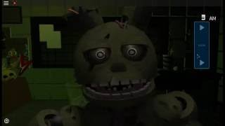 Roblox FNAF 3 Springtrap Jumpscare| Roblox Gameplay #14