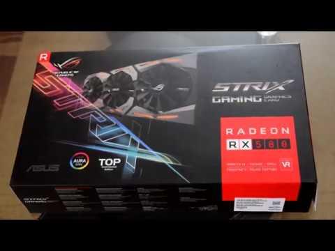 UNBOXING ASUS ROG STRIX GAMING RX 580 DirectCU III TOP OC 8GB