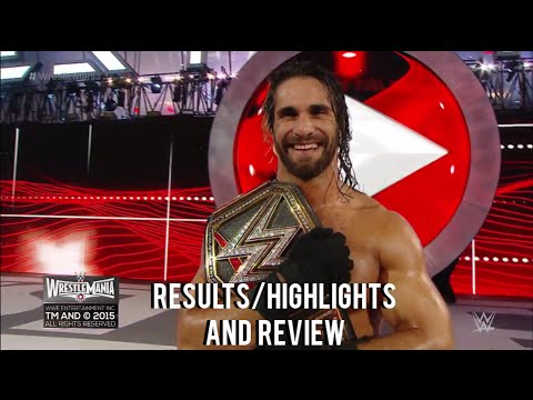 WWE Wrestlemania 31 Full Show Results/Highlights & Review, Seth Rollins cashes in money in the bank