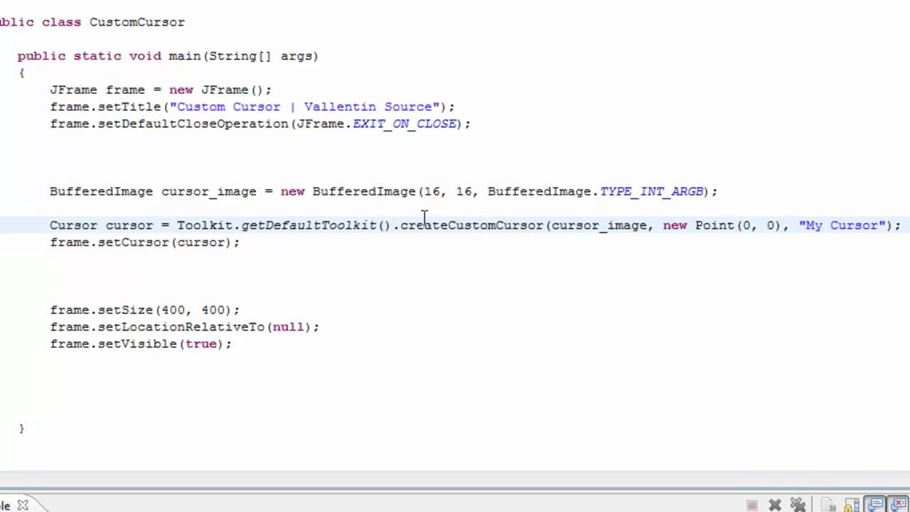 Java tutorial custom cursor or blank cursor 60 seconds youtube java tutorial custom cursor or blank cursor 60 seconds baditri Gallery