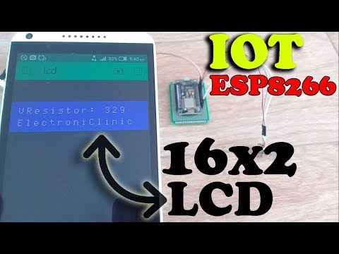 "ESP8266 Project: IOT 16X2 LCD ""wireless 16x2 LCD"" Blynk Application 16X2 LCD ""Nodemcu + Blynk"""