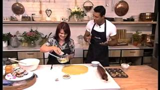 Angie Boyd Makes Pecan Nut Sticky Buns With Mango Frosting