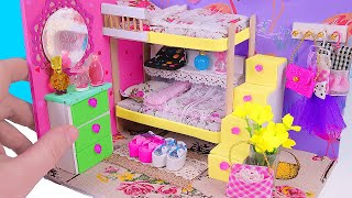 DIY Miniature Dollhouse Bedroom with a Bunk Bed (not a kit) thumbnail