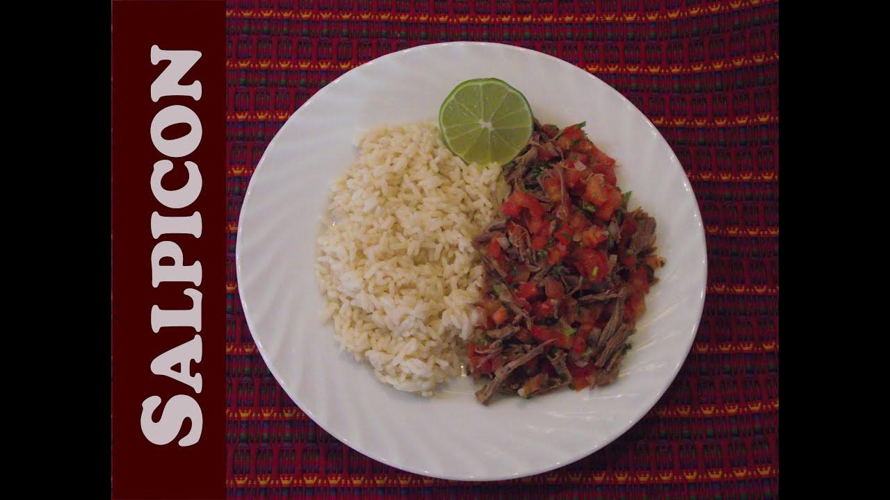 Receta de Salpicón Guatemala - YouTube