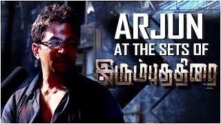 Arjun at the sets of IrumbuThirai | Vishal, Arjun, Samantha | Yuvan Shankar Raja | P.S. Mithran