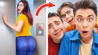 14 Situations Embarrassantes Dans Les Ascenseurs / Moments Amusants Et Gênants