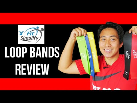 FIT SIMPLIFY RESISTANCE LOOP EXERCISE BANDS (UNBOXING / REVIEW)