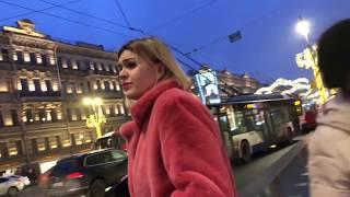 Как одеваются россиянки зимой 2020 - Санкт-Петербург Street Style - Fashion Walking Style In Russia