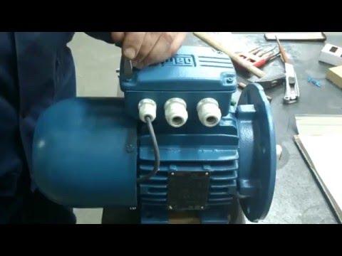 Установка электромеханического тормоза на электродвигатель WEG