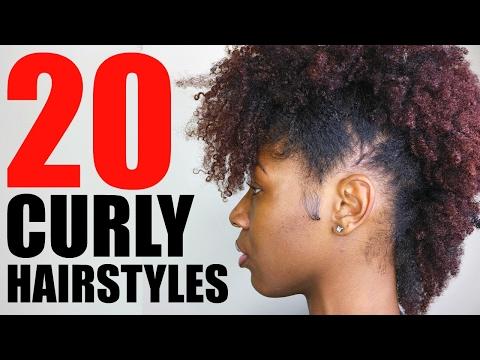 20 Curly Natural Hairstyles Short Medium Hair Youtube