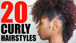 20 CURLY/ NATURAL HAIRSTYLES for School | SHORT/ MEDIUM HAIR