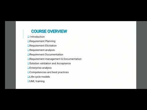 Business Analysis tutorial thumbnail