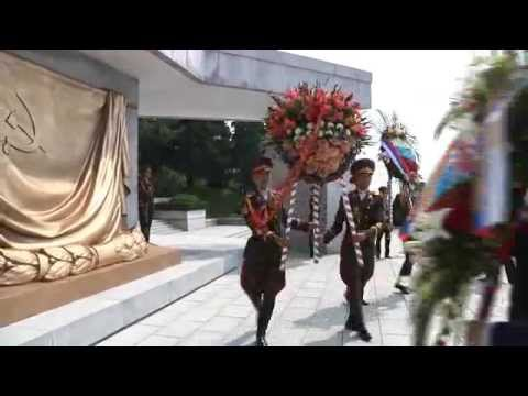 Floral Tribute Paid to Martyrs of Soviet Army - Pyongyang, North Korea