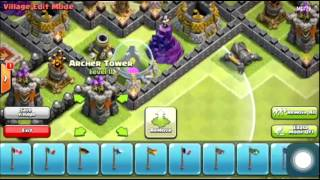 Clash of Clans NEW Th9 Farming Base w 4th Mortar and Skeleton Traps