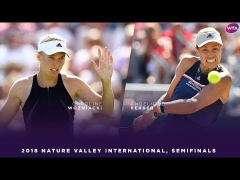 Caroline Wozniacki vs. Angelique Kerber | 2018 Nature Valley International Semifinals