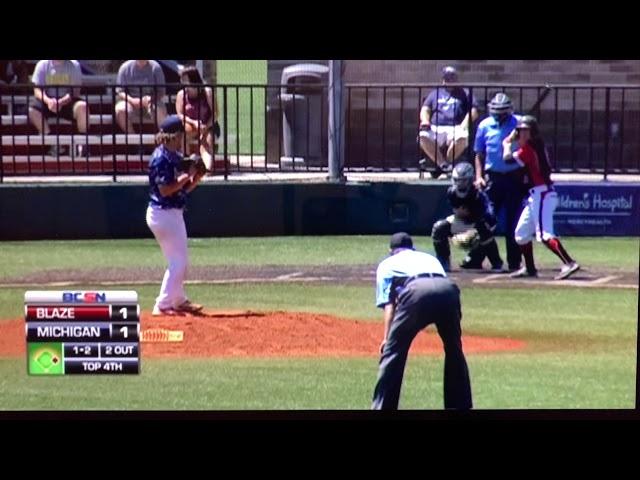 Jason Clark Michigan Braves Strikeout