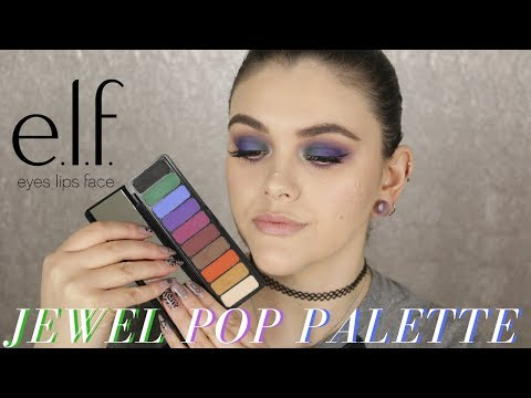 NEW ELF Mad for Matte Jewel Pop Eyeshadow Palette Review & Tutorial!