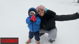 THE BEST FAMILY SNOW DAY W/ A 2 YEAR OLD!! | VLOGMAS DAY 13