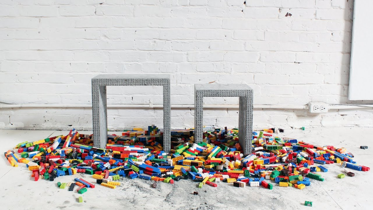 make a cool concrete nesting table out of legos architizer browse cement furniture