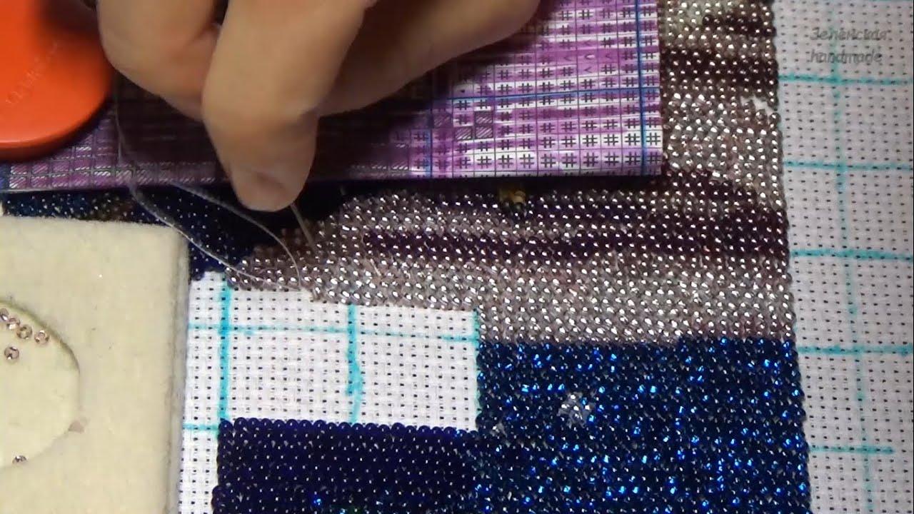 Вышивка бисером. Как я вышиваю. Вышивка рядами. Вышиваю и болтаю. Видео по запросу.