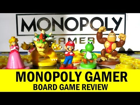 Monopoly Gamer Board Game: How To Play, Review & Runthrough - Feat. Nintendo's Mario Yoshi & Peach