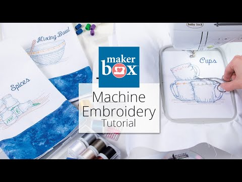 Machine Embroidery Maker Box Tutorial