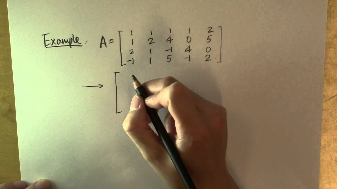 How To Find The Range Of A Matrix: Example
